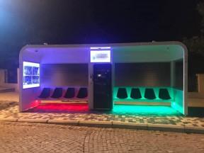 В Баку установлен автобусный био-смарт павильон