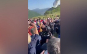 İlham Əliyev Cıdır düzündə rəqs etdi - Video