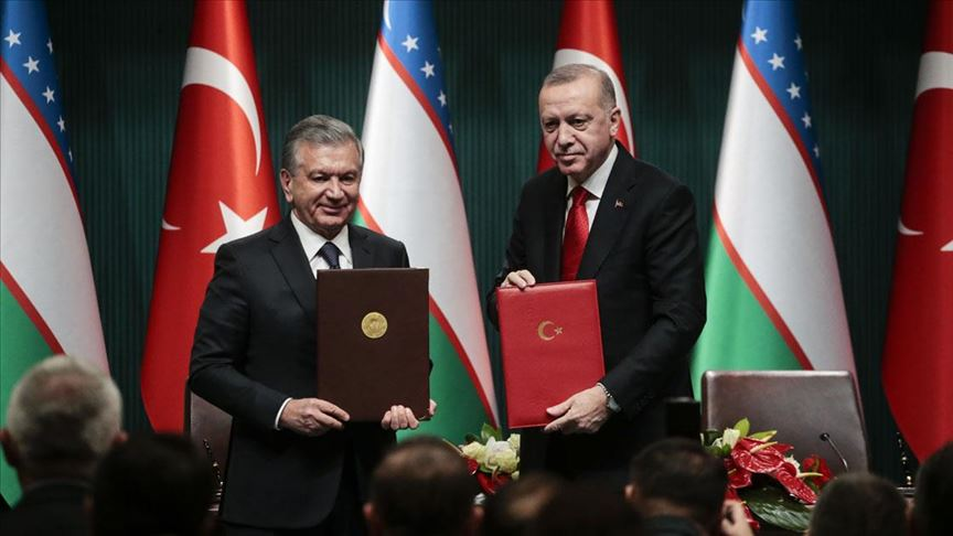 Özbekistan Cumhurbaşkanı Mirziyoyev: Türkiye ve Özbekistan'ın çalışmaları tarihe yepyeni sayfalar olarak yazılacak - VİDEO