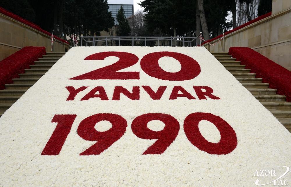Xalqımız 20 Yanvar şəhidlərinin xatirəsini ehtiramla anır - FOTOLENT